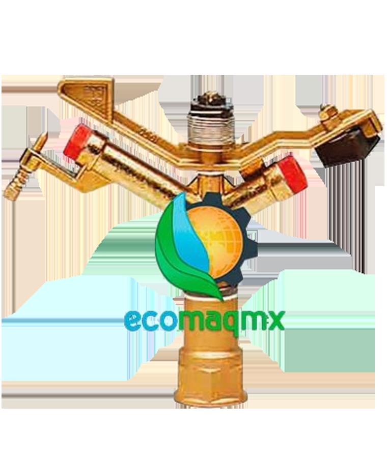Aspersor Ecomaqmx De Riego Circular Radio 20mts Conexion 1