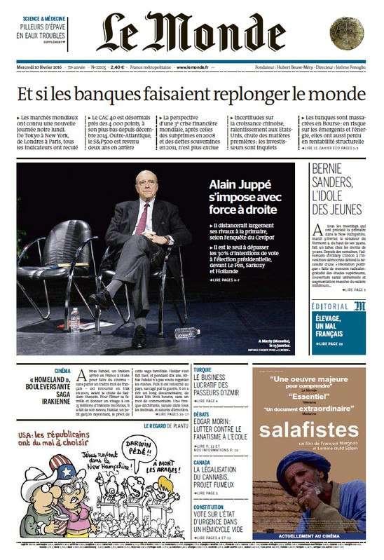 Le Monde Du Mercredi 10 Fevrier 2016