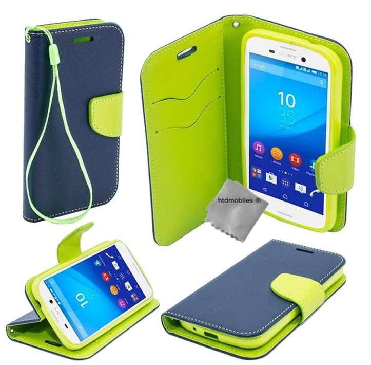 Housse-etui-coque-pochette-portefeuille-pour-Sony-Xperia-M5-verre-trempe