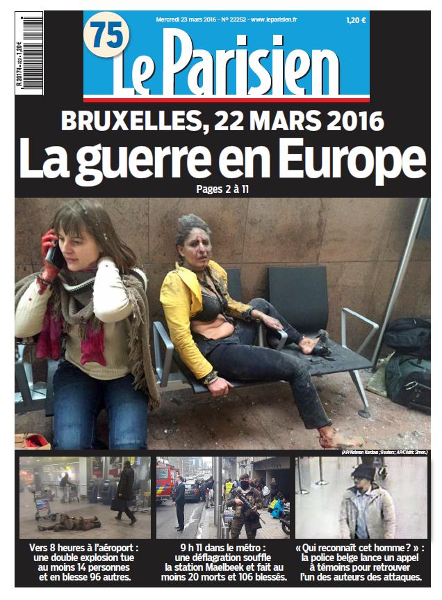 Le Parisien + Journal de Paris du Mercredi 23 Mars 2016
