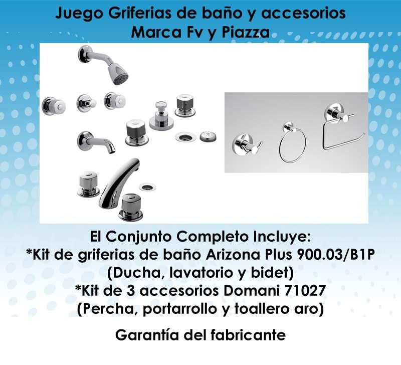 Griferia Para Baño Fv:Griferia De Baño Fv Arizona Plus Y Accesorios Domani Piazza $ 392856