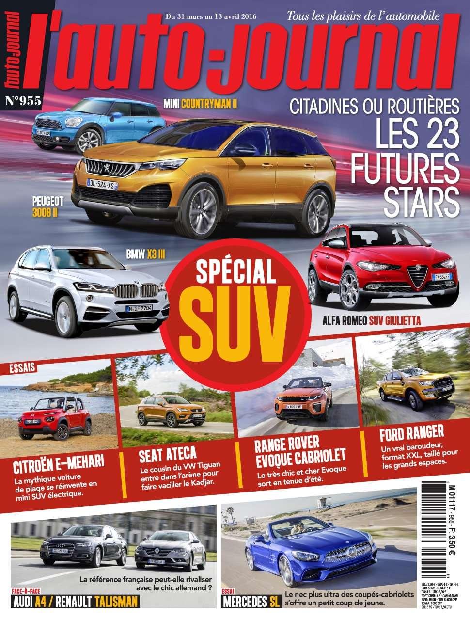L'Auto-Journal 955 - 31 Mars au 13 Avril 2016