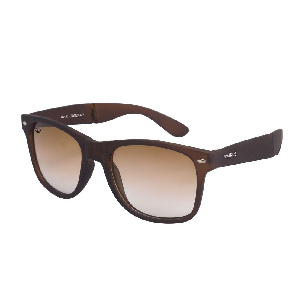 Walrus Flex Brown Color Unisex Wayfarer Sunglass - WS-FLX-MT-090909