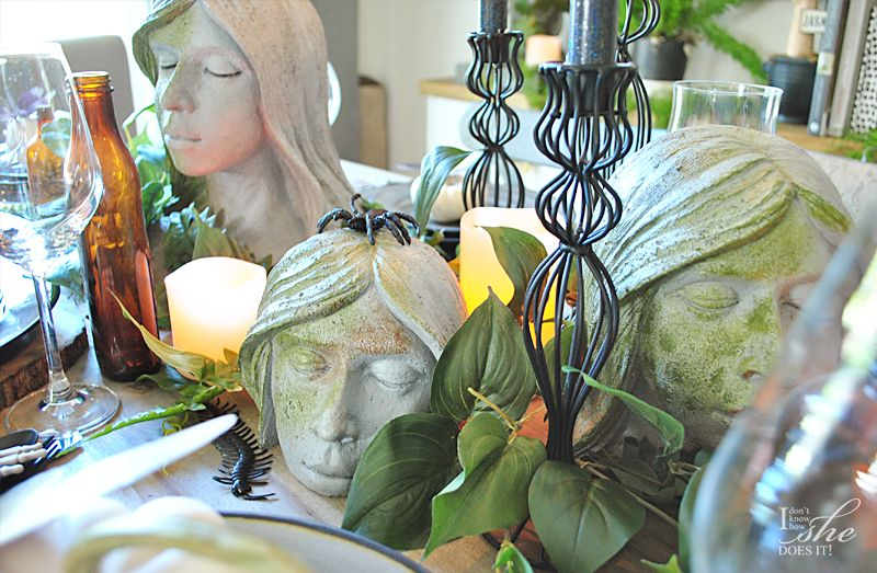 Haunted dining table candleholder