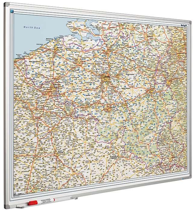 Photo: Landkaart bord Softline profiel 8mm, BeLux Wegen