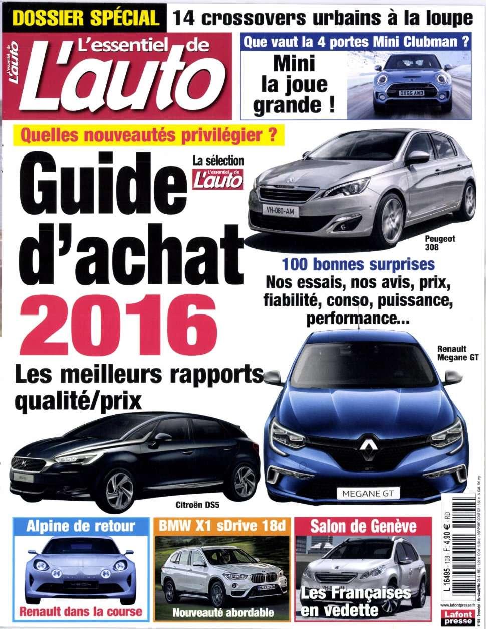 L'Essentiel de l'Auto 108 - Mars/Avril/Mai 2016