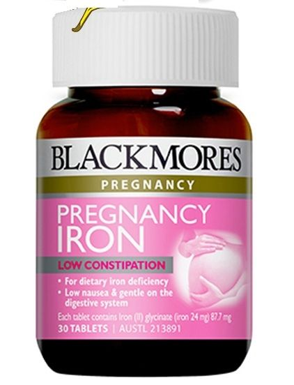 Viên uống bổ sung sắt cho bà bầu Blackmores Pregnancy Iron 685