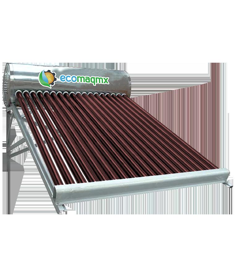 Calentador Solar Ecomaqmx 220L 6 Personas 18 tubos
