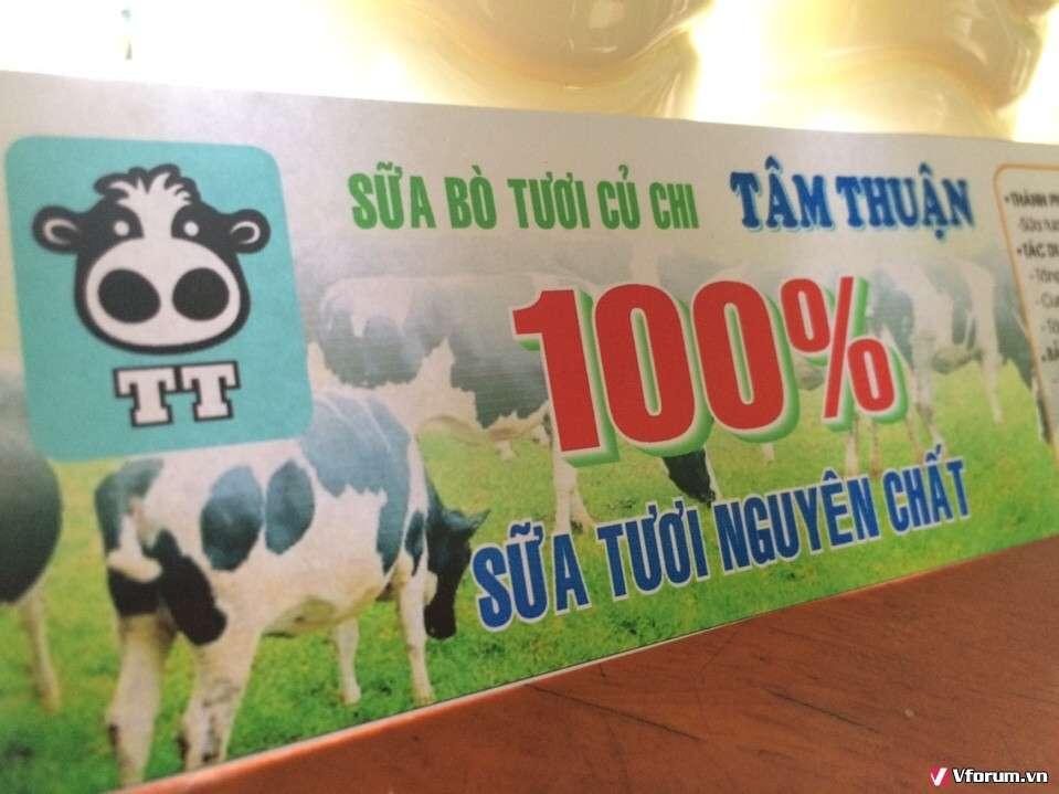 Sữa bò Củ Chi Tâm Thuận 100% Nguyên Chất 20k - 12
