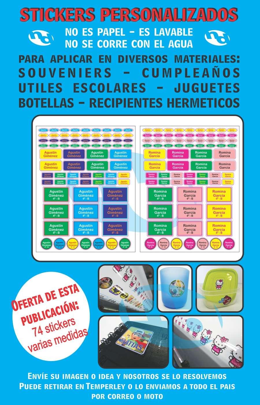Stickers Etiquetas Utiles Escolares Personalizados