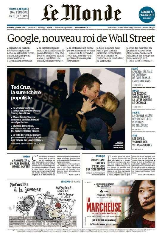 Le Monde du Mercredi 3 Février 2016