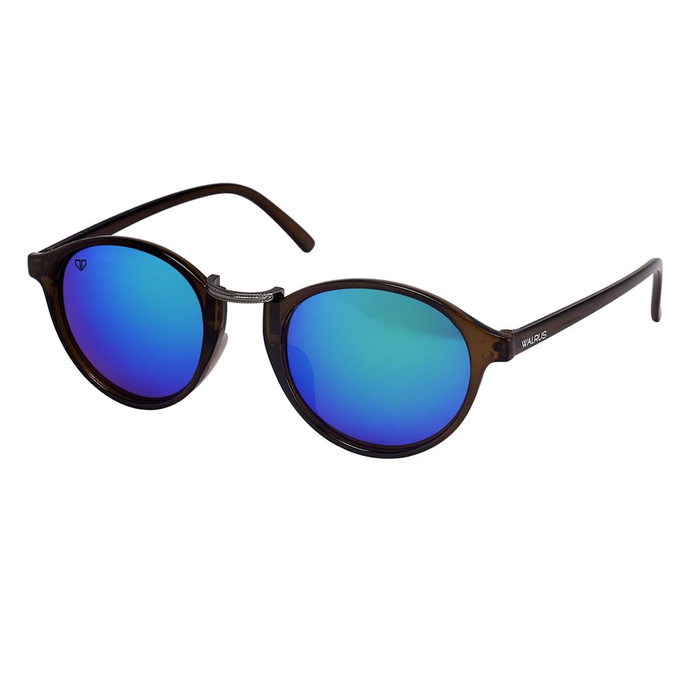 Walrus James Multicolor Mirror Color Unisex Oval Sunglass - WS-JAMES-210918