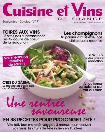Cuisine et Vins de France - Septembre/Octobre 2016