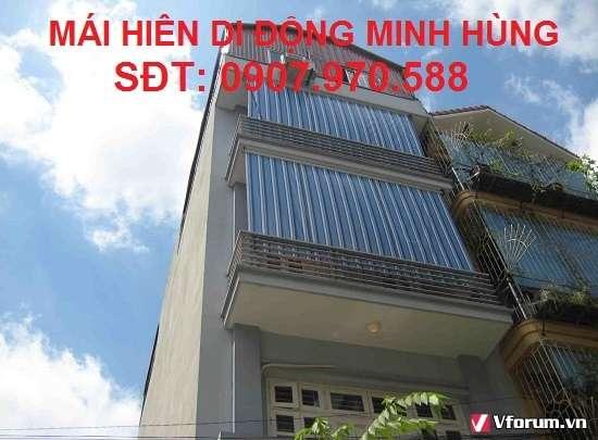 Làm mái xếp giá rẻ tại quận 2, Sài Gòn, Bình Dương