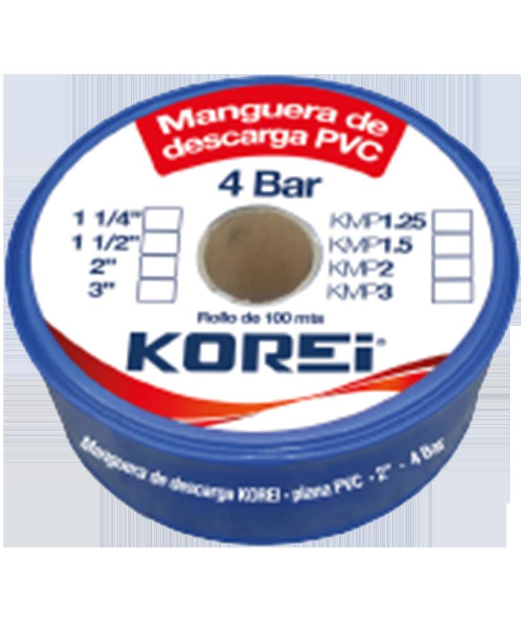 """Manguera de Descarga Korei 1 1/2"""" 4Bar 100M"""