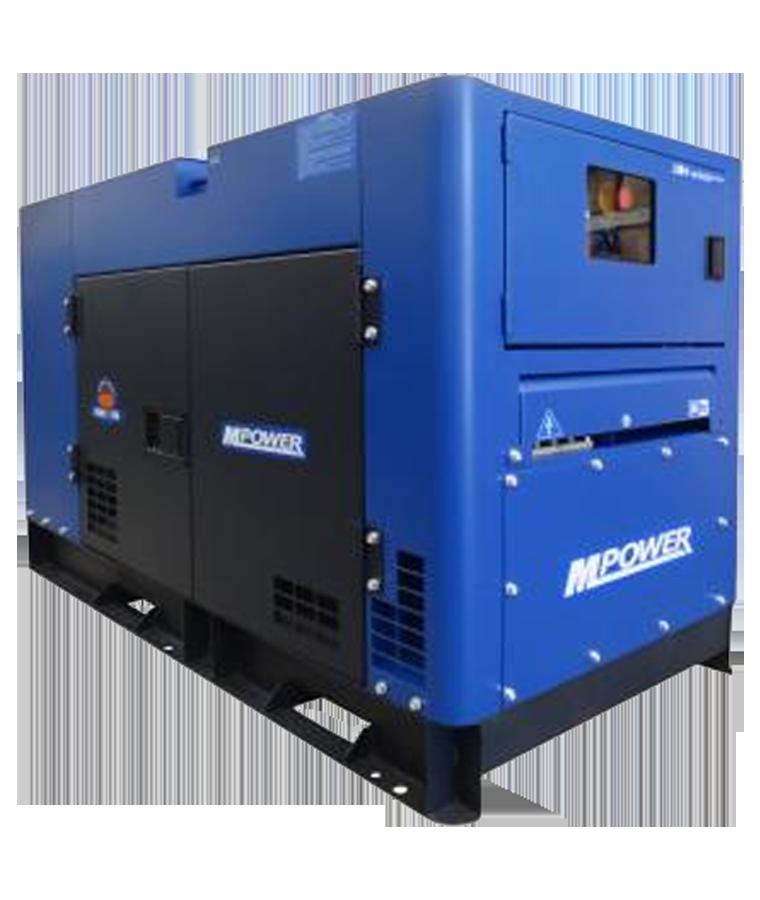 Generador A Diesel 11kva Mpower 19hp 110-220v A. Eléctrico