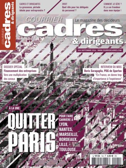 Courrier Cadres - Septembre 2016