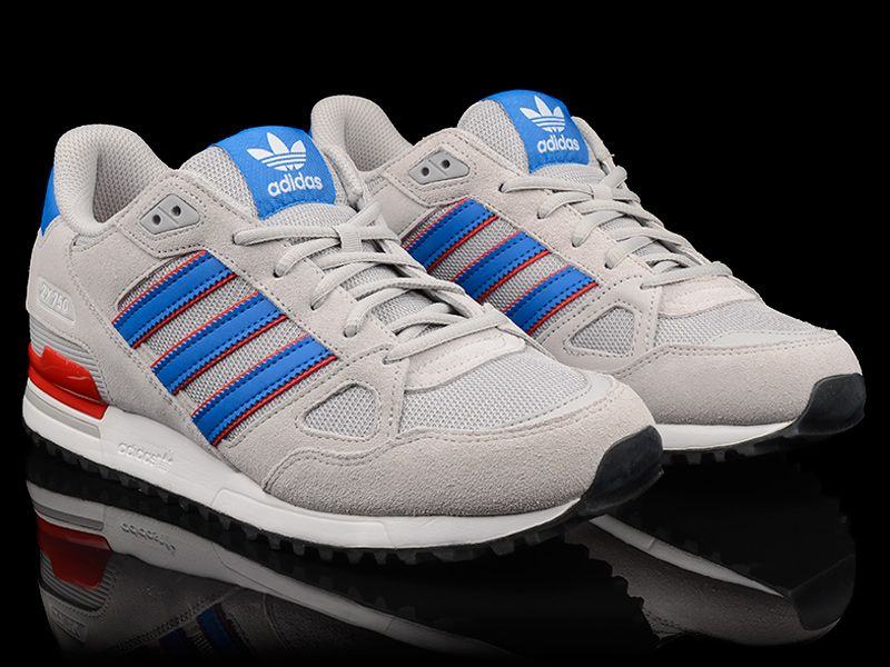 adidas originals zx 750 by9271 neu sneaker grau blau rot ebay. Black Bedroom Furniture Sets. Home Design Ideas