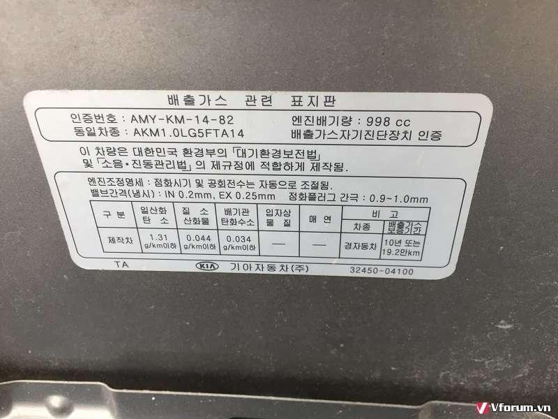 Bán KIA moring nhập Korea năm 2013 giá rẻ đây!!! - 3