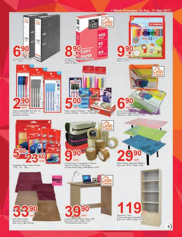 Aeon Big Catalogue (25 August - 21 September 2017)