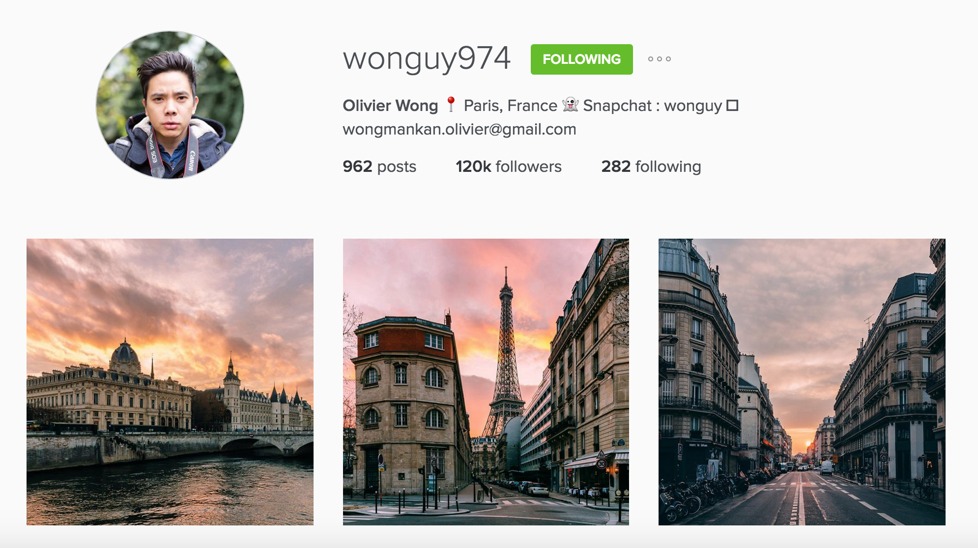 instagram cariboo paris account olivier wong dusk