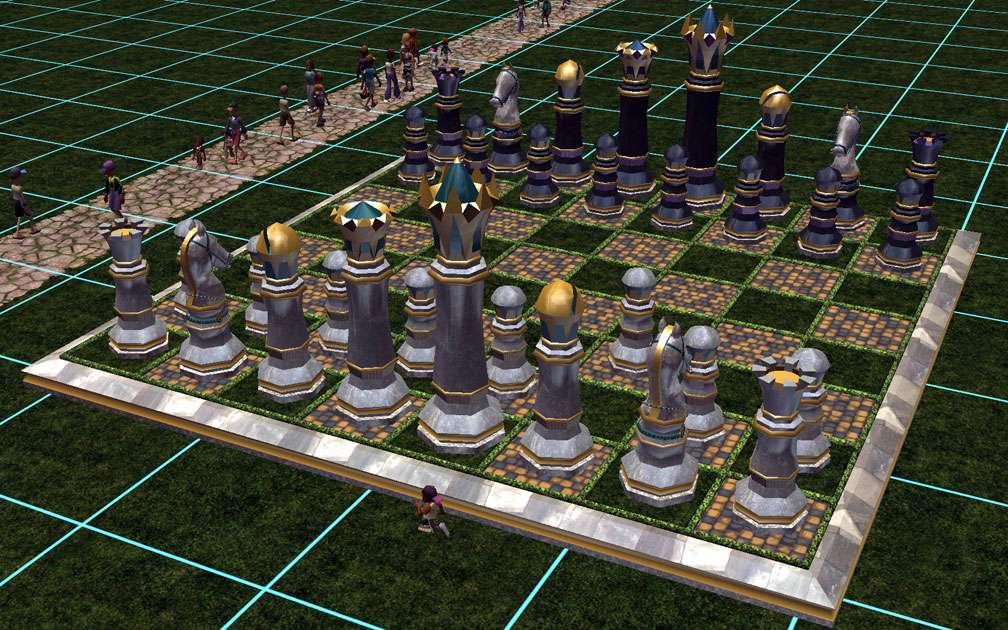 My Downloads - Custom Scenery - RCT2 Revival Crüe Chess - Demo Screenshot, Image 01