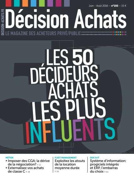 Décision Achats - Juin/Août 2016