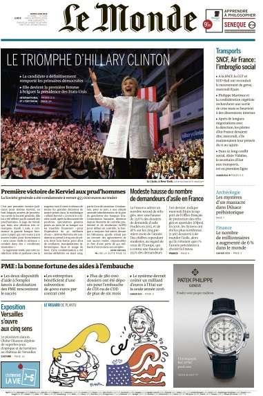 Le Monde du Jeudi 9 Juin 2016