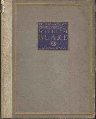The Drawings and Engravings of William Blake Illustrated HC 1922, Laurence Binyon