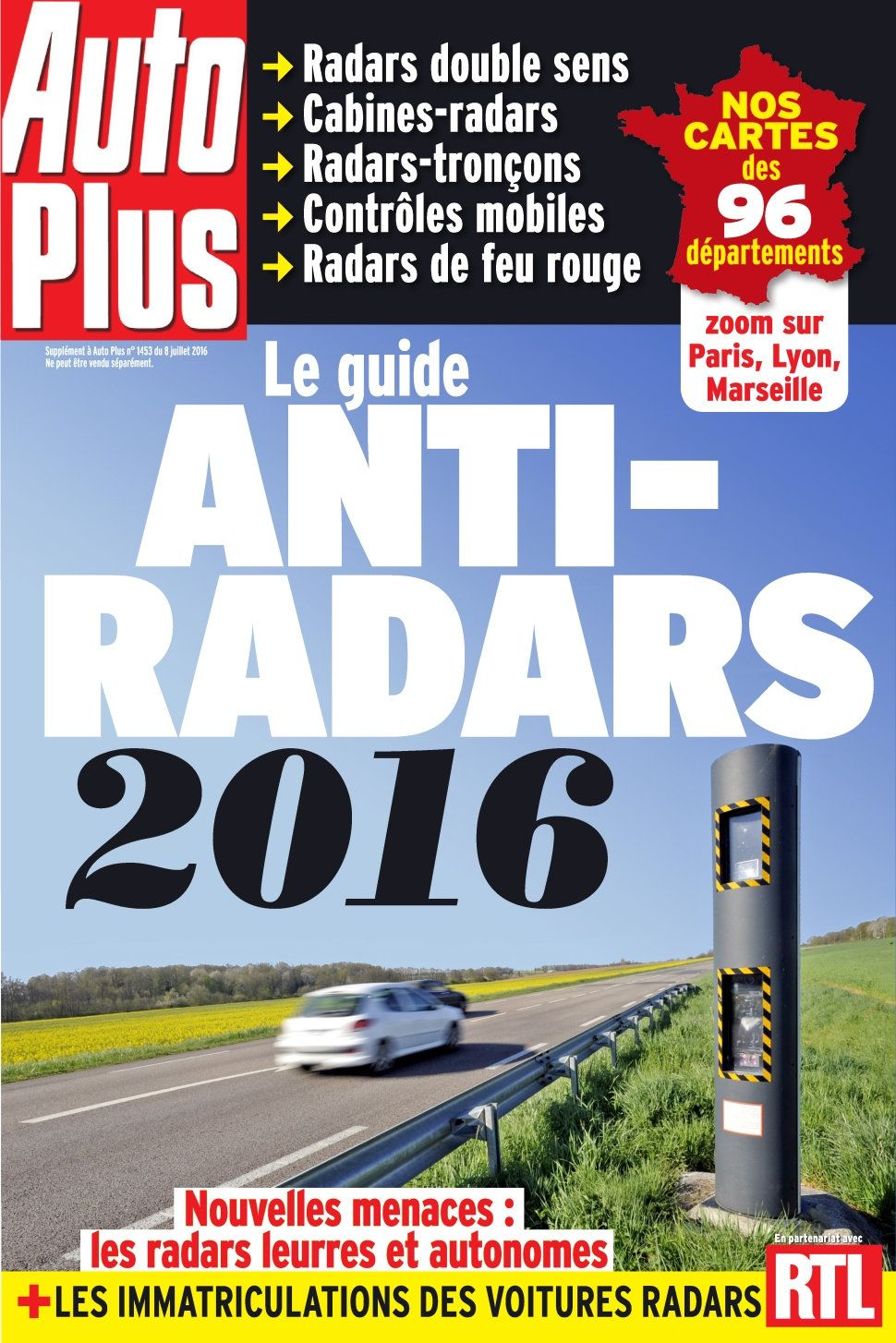 Auto Plus Hors-Série Guide 4 - Le Guide Anti Radars 2016
