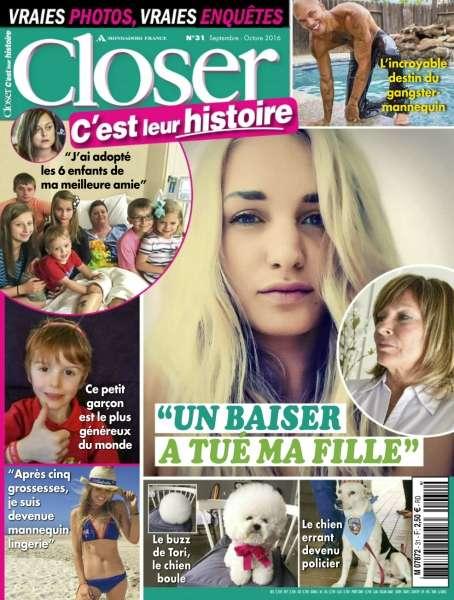 Closer C'est leur Histoire - Septembre/Octobre 2016