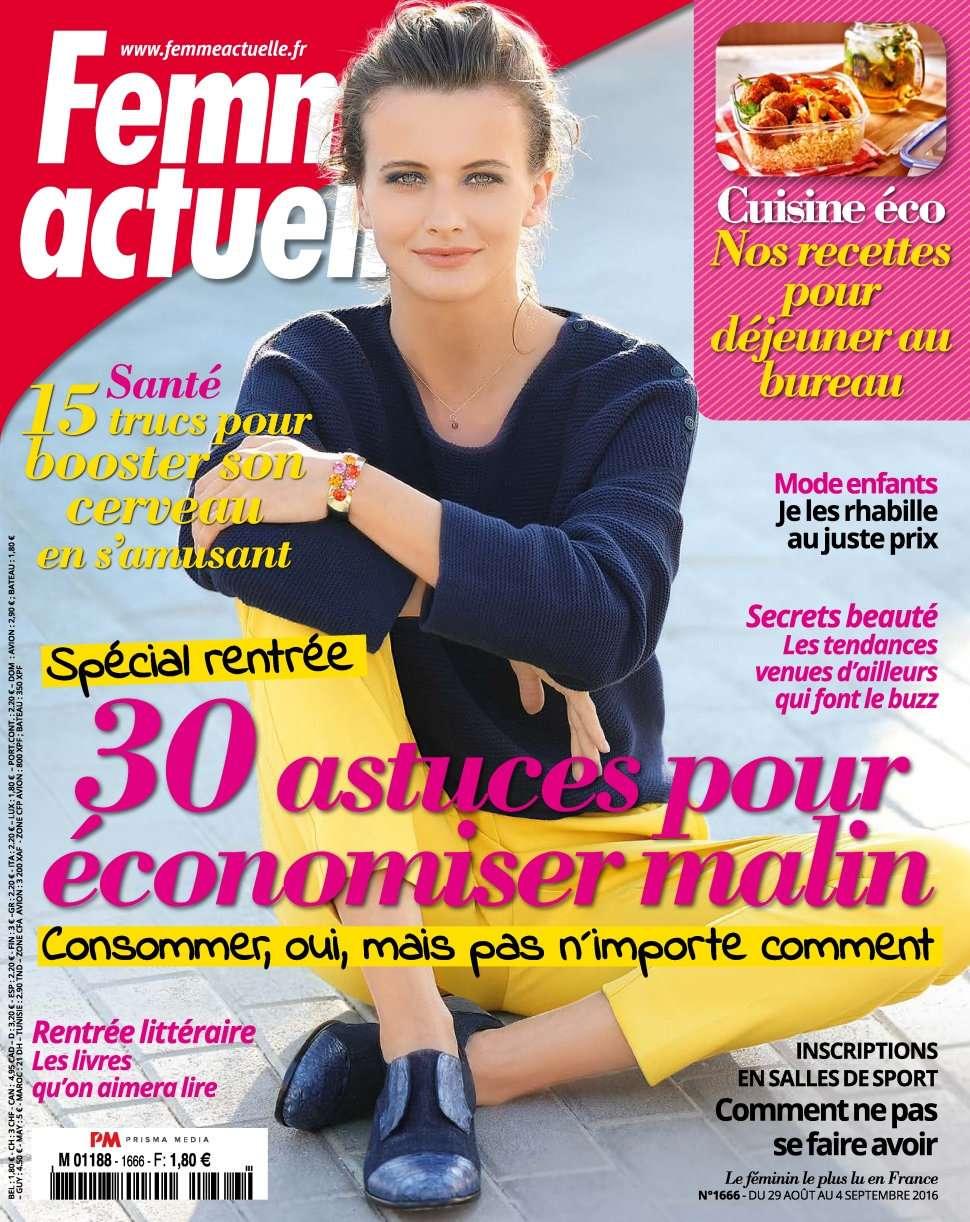 Femme Actuelle 1666 - 29 Août au 04 Septembre 2016