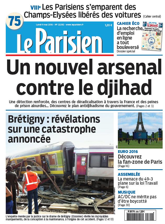 Le Parisien du Lundi 9 Mai 2016