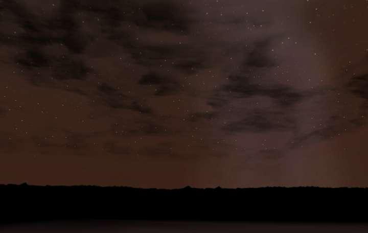 My Downloads - TexMod Packs: Destroyed City TexMod Skies - Demo Screenshot, Night Sky, Image 02