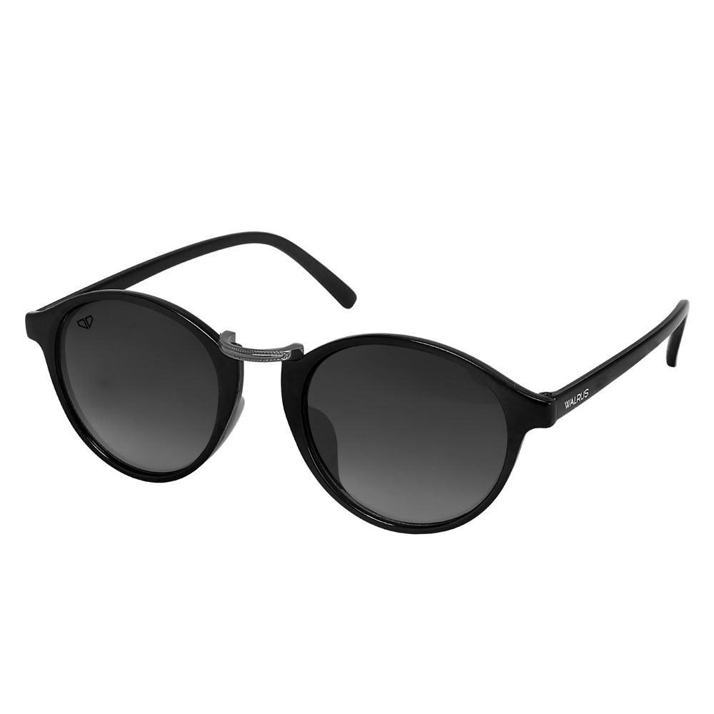 Walrus James Black Color Unisex Oval Sunglass - WS-JAMES-II-020218