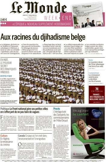Le Monde du Dimanche 27 et Lundi 28 Mars 2016