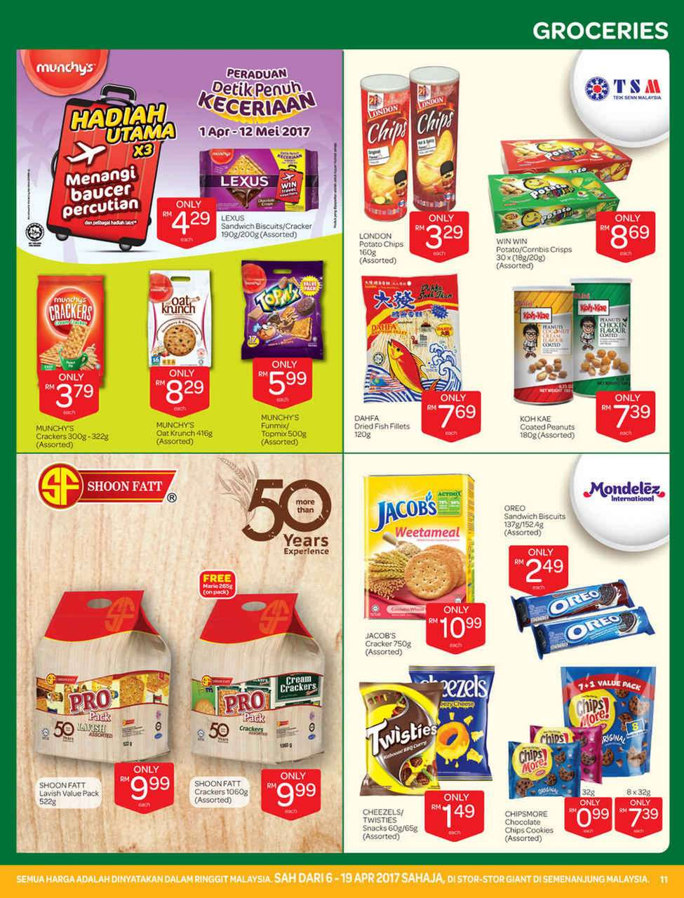 Giant Catalogue (6 April 2017 - 19 April 2017)