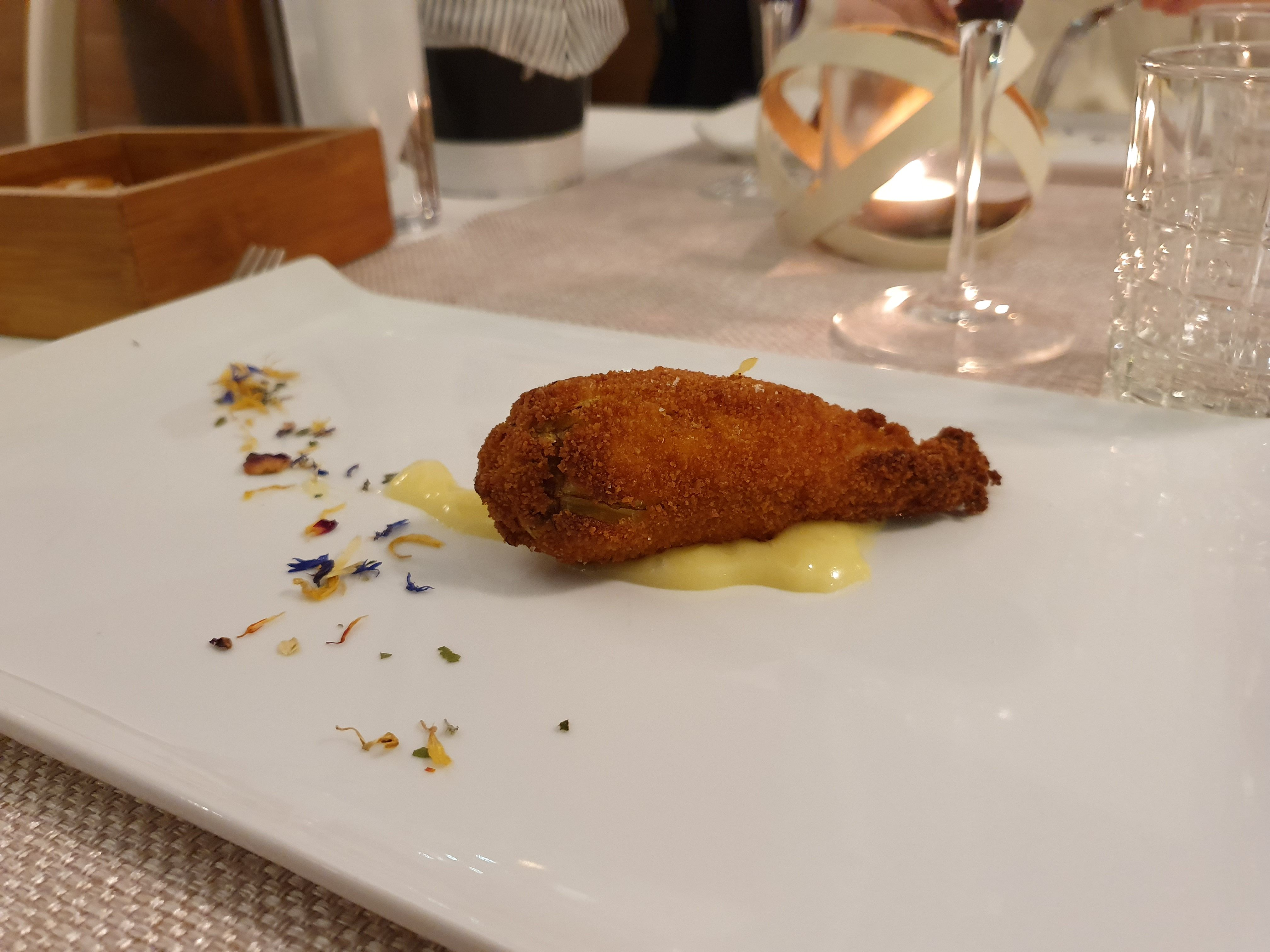 Complimentary appetiser at La Bettola del Gusto