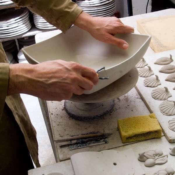 bassano keramik quadratisch teller 31 cm streifen motiv aus italien neu. Black Bedroom Furniture Sets. Home Design Ideas