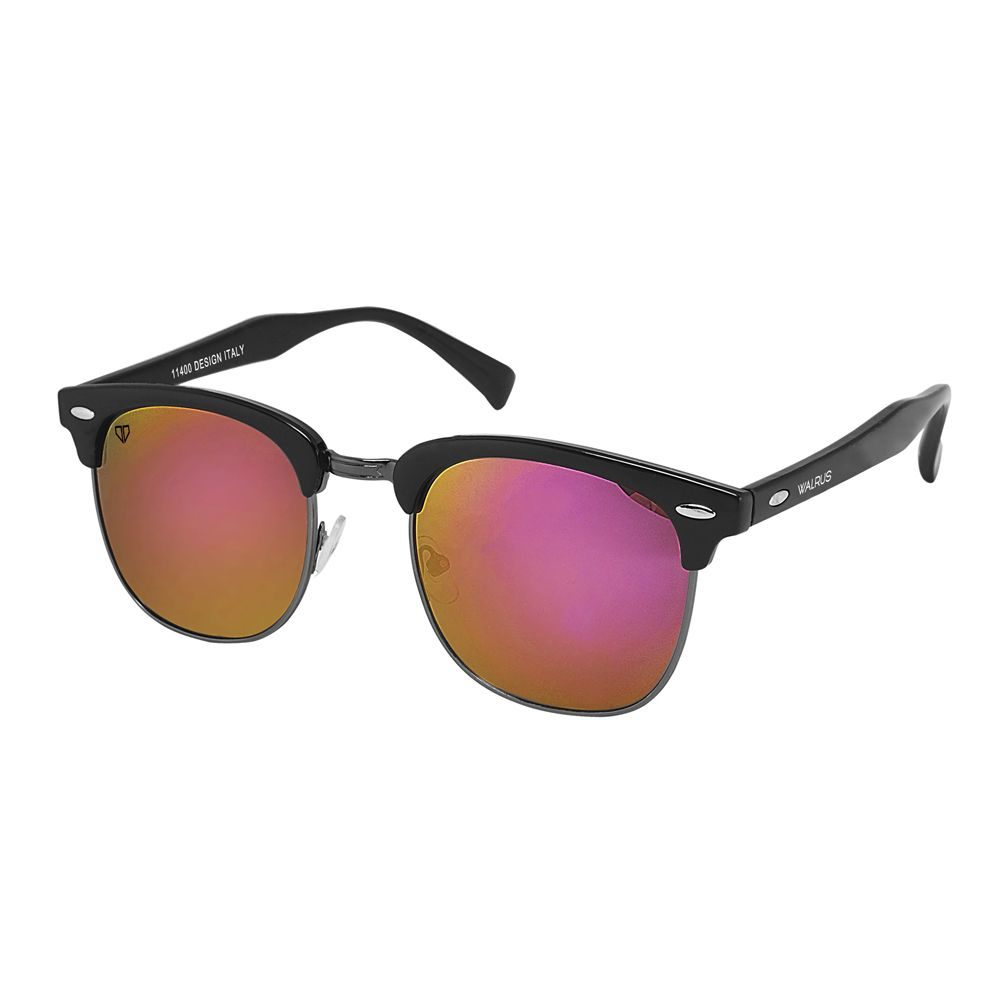 Walrus Michel Purple Mirror Color Unisex Wayfarer Sunglass - WS-MCHL-240202