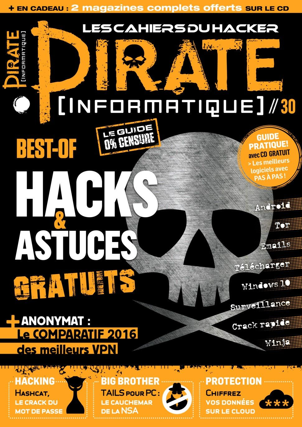 Pirate Informatique 30 - Aout/Octobre 2016