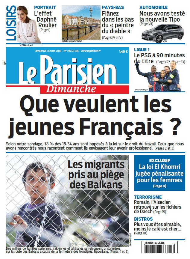 Le Parisien + Guide de votre Dimanche 13 Mars 2016
