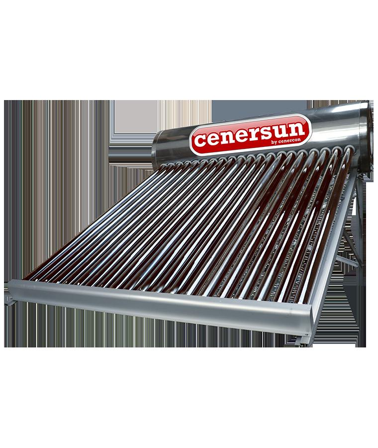 Calentador Solar Cenercon 250L 7 Personas P/ Tinaco 20 Tubos