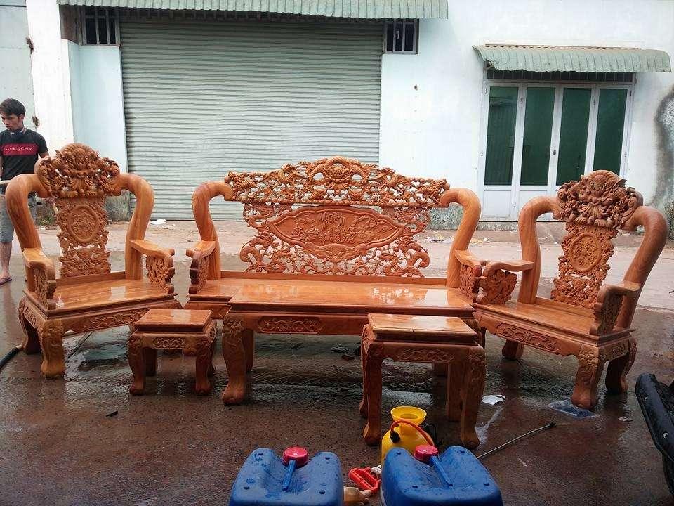 Salong phòng khách gỗ quý giá cực rẻ   xem hàng tại xưởng