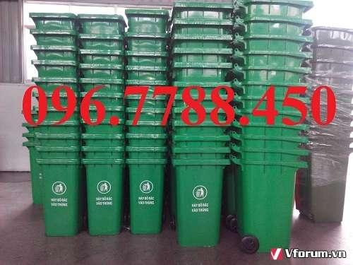 thùng rác nhựa 120l 2 bánh xe