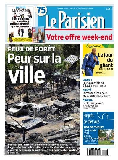 Le Parisien du Vendredi 12 Août 2016