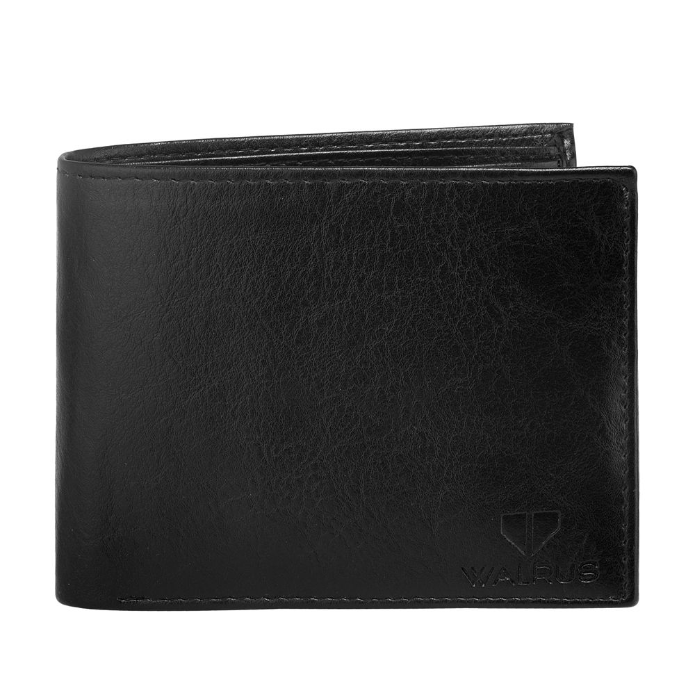 Walrus Logan Black Color Men Leather Wallet- WW-LGN-02