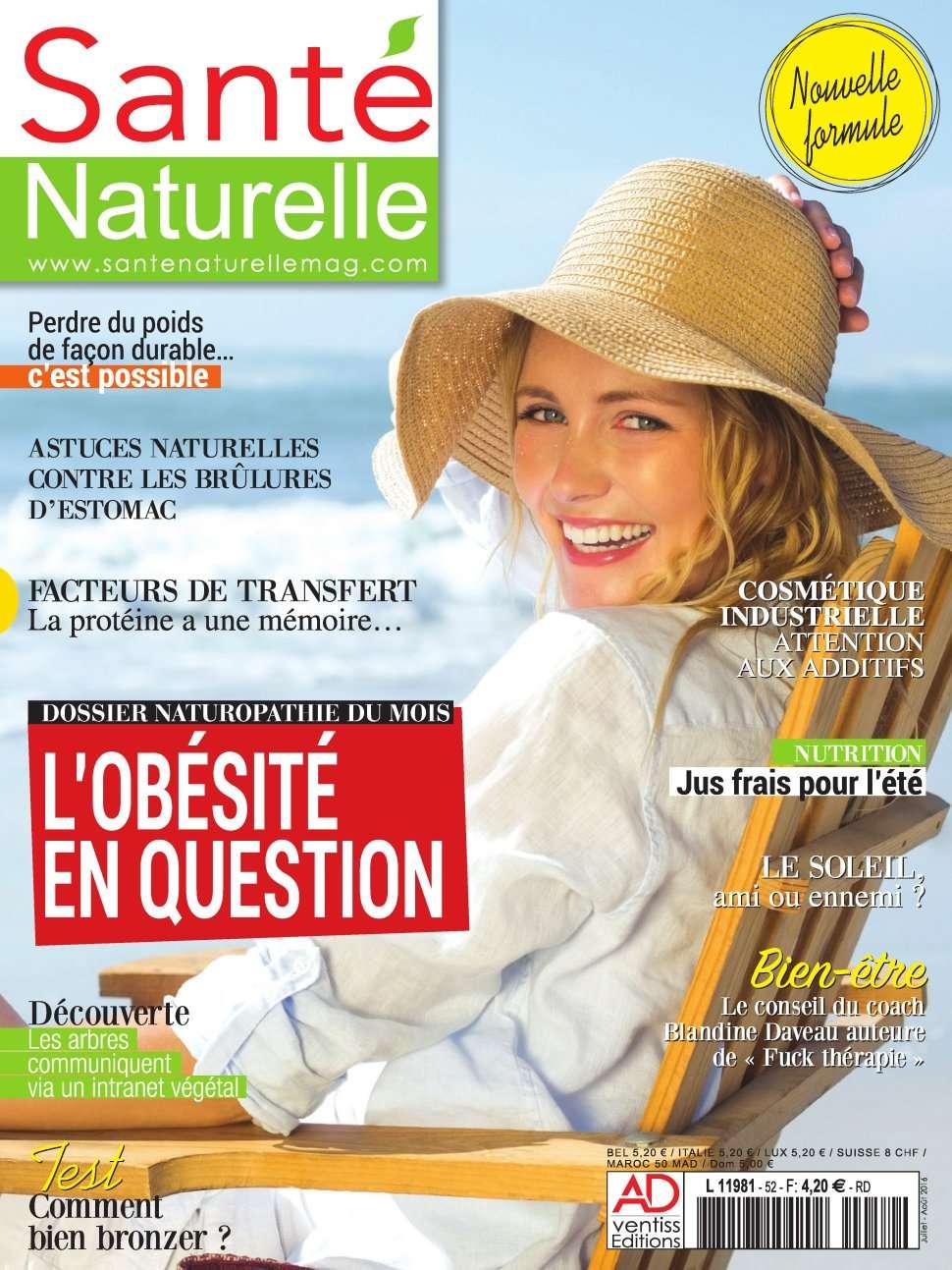 Santé Naturelle 52 - Juillet/Aout 2016