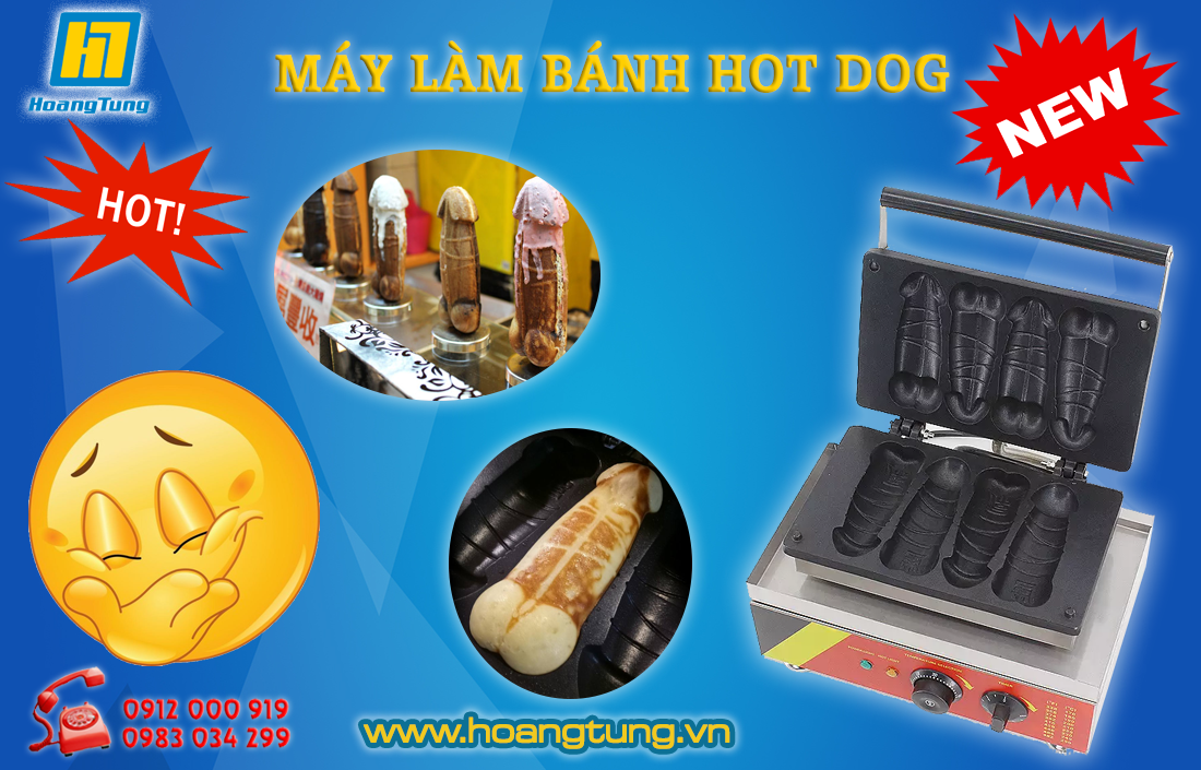 may lam banh hot dog