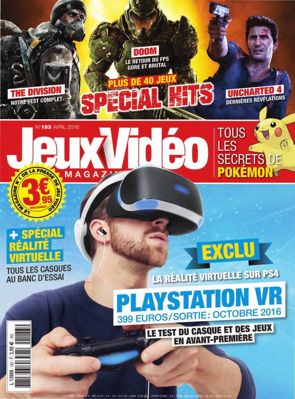 Jeux Vidéo magazine 183 - Avril 2016